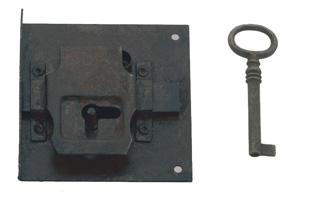 Cerradura rustica