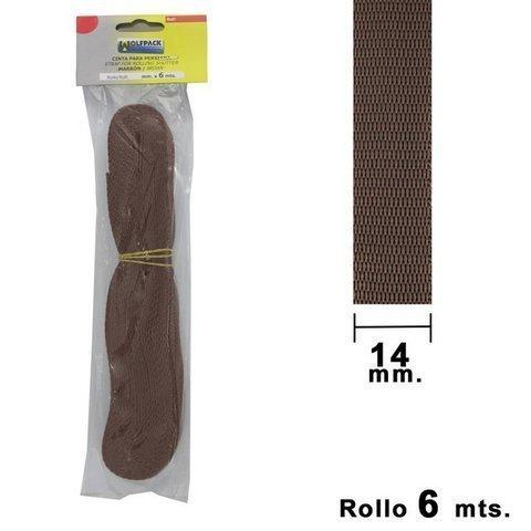 Ferivo - Cinta Persiana Wolfpack Marrón 14 mm. Rollo 6 Metros - Herramienta y complementos de ferretería en Gijón La Camocha